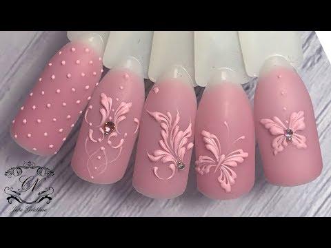 Дизайн ногтей цвет на цвет