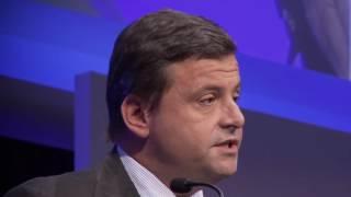 Cerimonia di quotazione Italgas: l'intervento del ministro dello Sviluppo economico Carlo Calenda