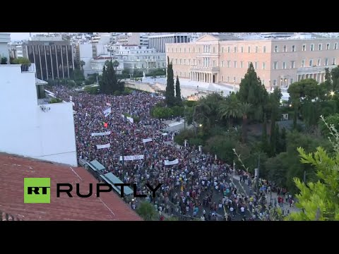 LIVE: Protesters in Athens call for 'no' in July 5 referendum