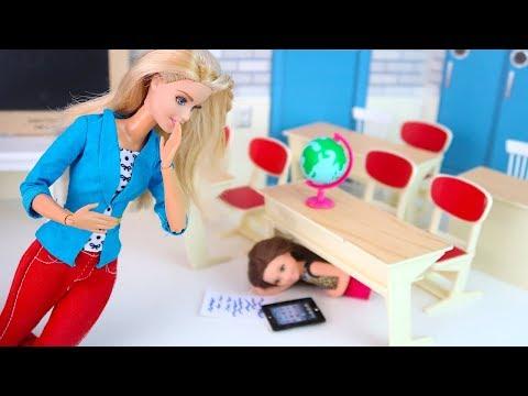 ЗАСТУКАЛА ПОД ПАРТОЙ, НО ПРОМОЛЧАЛА?  Мультик Барби Куклы Про Школу Игры Для девочек IkuklaTV