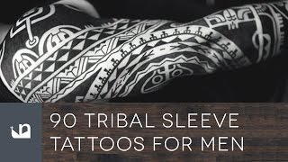 Video 90 Tribal Sleeve Tattoos For Men download MP3, 3GP, MP4, WEBM, AVI, FLV Juli 2018