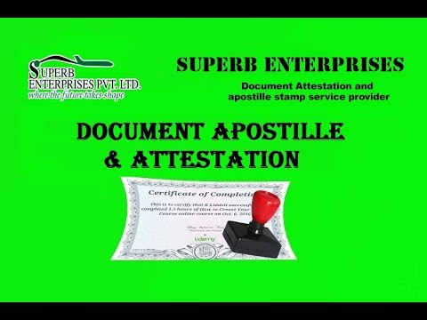 Documents Apostille Stamp & Attestation Services