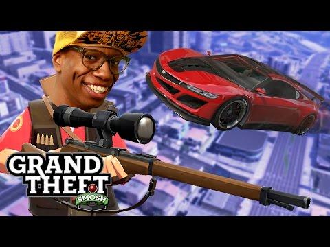 SNIPERS VS STUNTERS (Grand Theft Smosh)