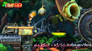 Donkey Kong Country: Tropical Freeze - 100% Walkthrough - 1-3 Canopy Chaos (Puzzle Pieces and KONG)