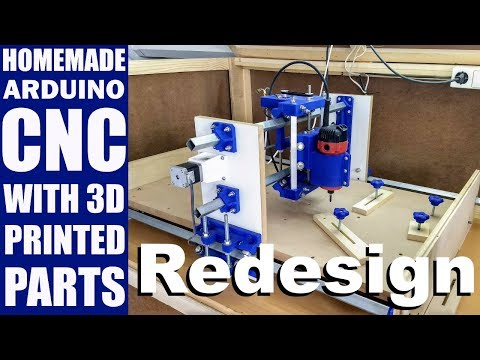 Homemade CNC with 3D Printed Parts - Redesign