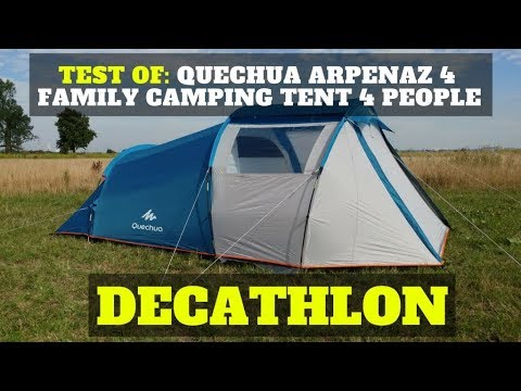 Test of Quechua Arpenaz 4 family c&ing tent 4 people - DECATHLON  sc 1 st  YouTube & Test of: Quechua Arpenaz 4 family camping tent 4 people ...