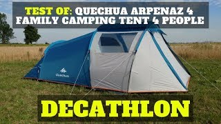 Test of: Quechua Arpenaz 4 family camping tent 4 people - DECATHLON
