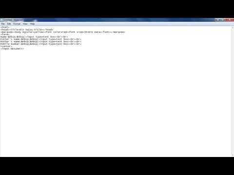 How To Create Bio Data In Html Basic Level