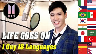 Life Goes On (BTS) 1 Guy Singing in 18 Different Languages - Cover by Travys Kim
