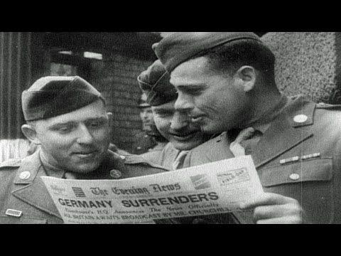 HD Stock Footage WWII Lest We Forget R1 - VE Day, Normandy, D-Day, B-17, Berlin in Ruins
