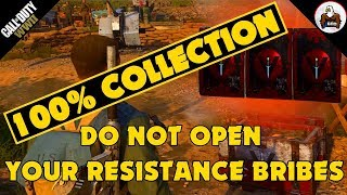 100% FULL RESISTANCE COLLECTION DO NOT OPEN RESISTANCE BRIBES COD WW2
