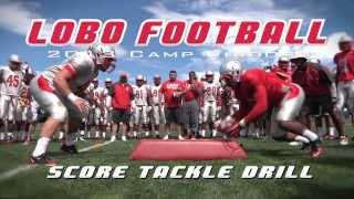 2013 Lobo Football | Score Tackle Drill