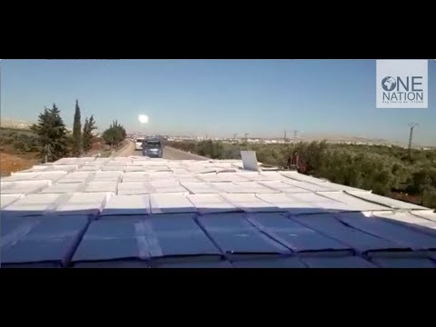 Syrian Refugees in Idlib City Receive Food Parcels - January 2018