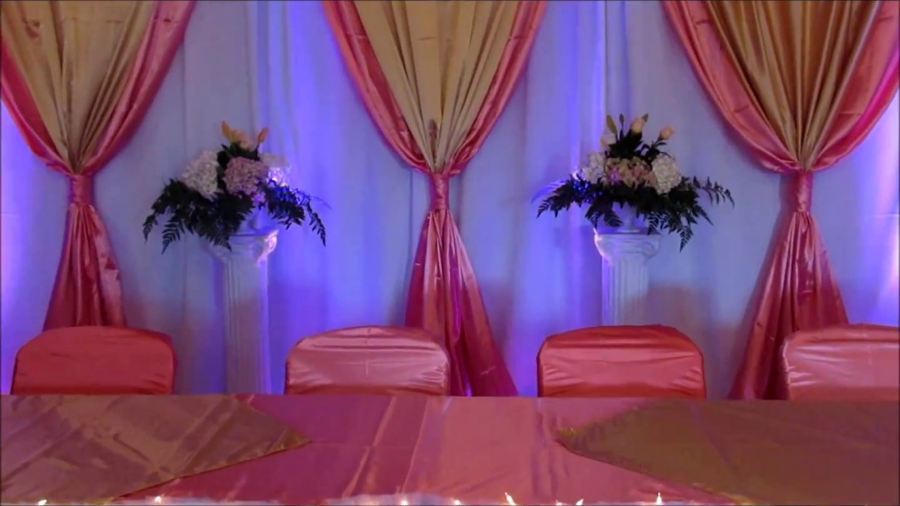 Faos events decoracion color coral y oro bautizo youtube - Decoraciones en color plata ...