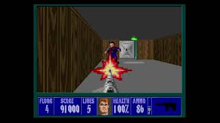 Wolfenstein 3D Playthrough Mission 1 Floor 4