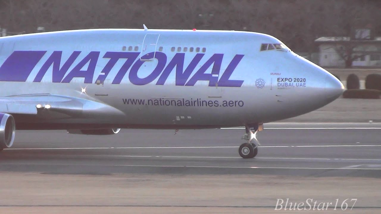 National Airlines Boeing 747-400BCF (N919CA) landing at ...