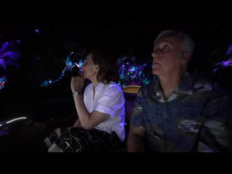 Sigourney Weaver & James Cameron Riding Na'vi River Journey | Pandora - The World of Avatar
