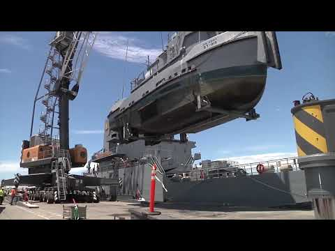 LSV-3 General Brehon B. Somervell Loads Army Watercraft
