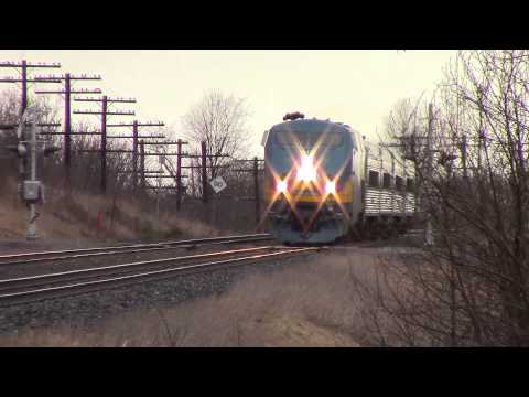 Ontario Trip 2015 Video 16 of 118 VIA 66 (Passenger) @ Newtonville ON 20APR15 P42DC 913 Leading