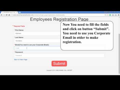 Instructions For Employees To Register As An Employee in OMNICHANNEL CALL CENTER Employees System