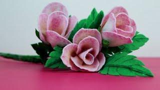 How To Make Flower With Velvet Paper | Easy Felt Flower