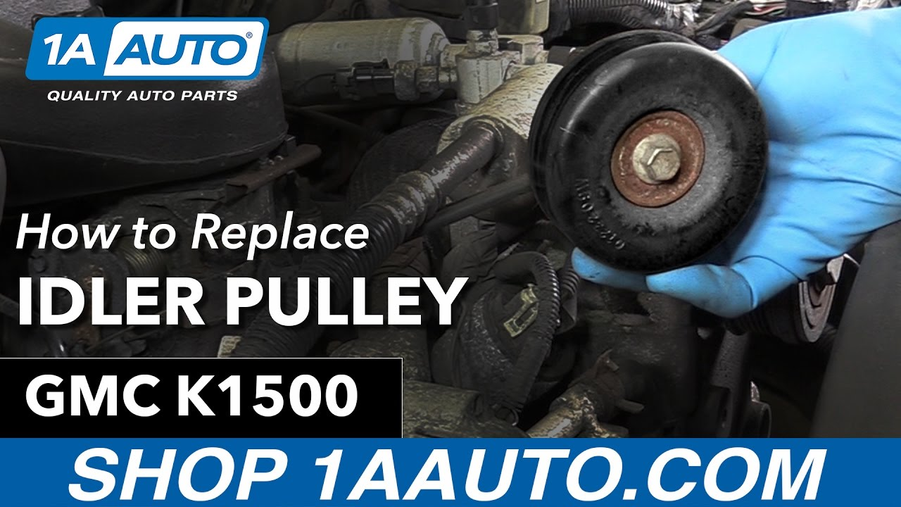 how to replace idler pulley 96 99 gmc sierra k1500 [ 1280 x 720 Pixel ]