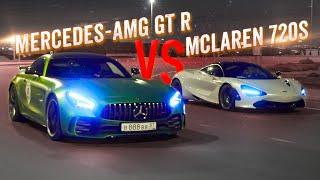 1300+ л.с. Mercedes-AMG GT R vs McLaren 720S. Форсаж в Дубаи