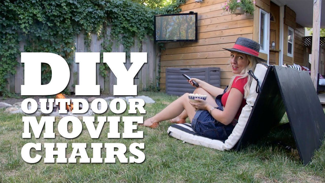 Diy Outdoor Cinema Chairs Youtube