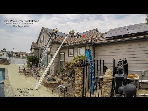 Pool Solar Panel Installation Time Lapse
