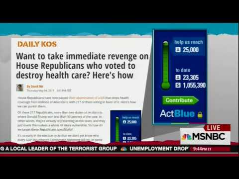 Rachel Maddow discusses huge fundraising surge on Daily Kos & Swing Left