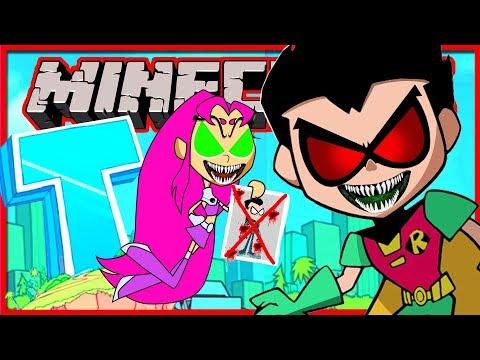 Minecraft - Evil Robin and Evil Starfire Hunt! (Minecraft Roleplay)
