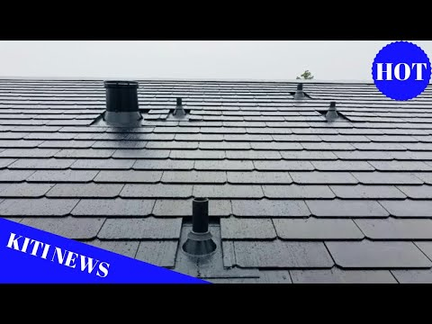 Tesla Solar Roof tile design and installation showcased in f