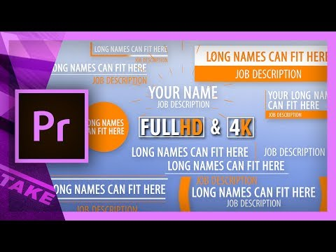 Simple Lower Thirds Templates For Premiere Pro Cinecom