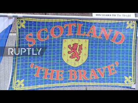 UK: Hundreds flood the streets of Glasgow at pro-Scottish independence rally
