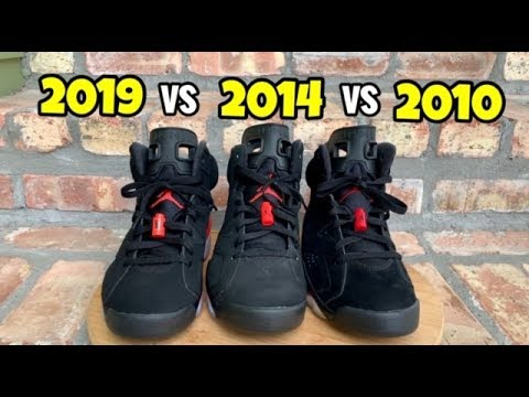 2279ca286419 Jordan 6 Black Infrared comparison - YouTube