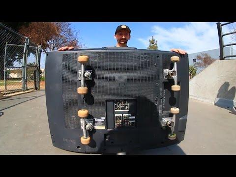 SKATEBOARDING A FLATSCREEN TV?! | SKATE EVERYTHING EP 17
