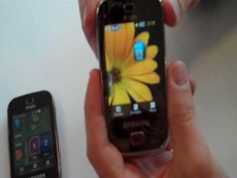 Live-Video des Samsung Dual-SIM-Handys Samsung B5722