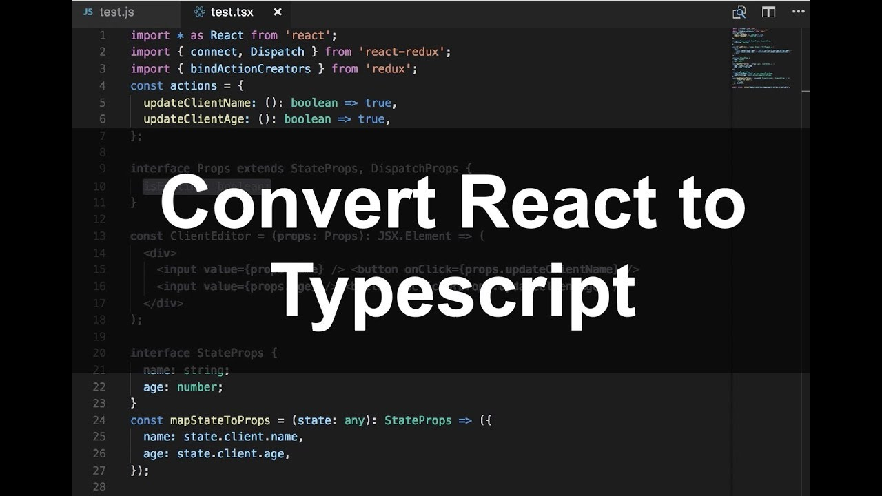 React JS to TSX Component (with Redux connect)