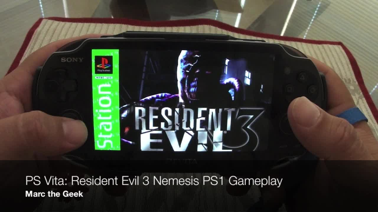 Ps Vita Resident Evil 3 Nemesis Ps1 Gameplay Youtube