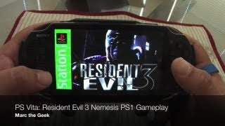 PS Vita: Resident Evil 3 Nemesis PS1 Gameplay