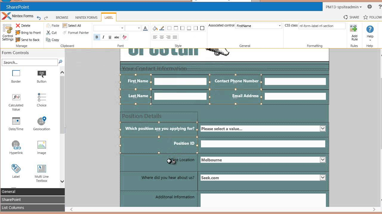 Job Application Form Betterteam Online Job Application Form Basic Formatting Part 1 Of 2