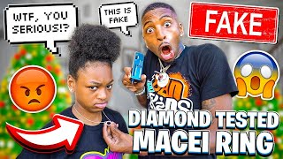 WE DIAMOND TESTED MACEI RING & CHAIN MYKEL BOUGHT!!💔(SHE'S HURT)