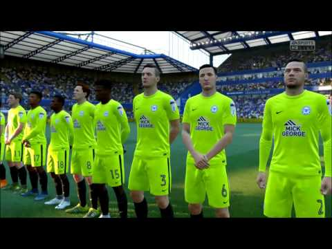 FIFA 17 Sim Chelsea Vs Peterborough United (Emirates F.A Cup) 8th/jan/2017