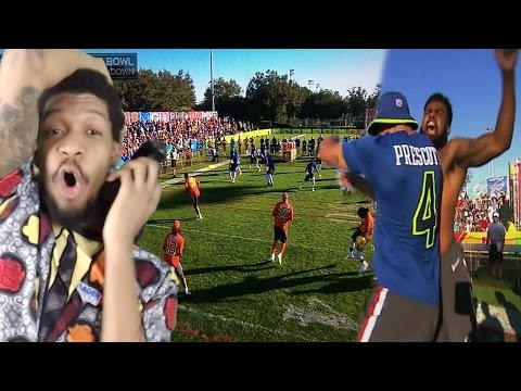 BETTER THAN REAL FOOTBALL! NFL PRO BOWL DODGEBALL GAME REACTION!