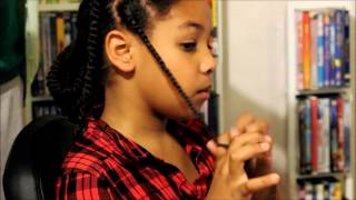 Two strand Twists Kids natural hair ~ Monday Mini Me #2