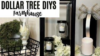 DOLLAR TREE FARMHOUSE DIYs | THREE EASY IDEAS | CHIC ON THE CHEAP