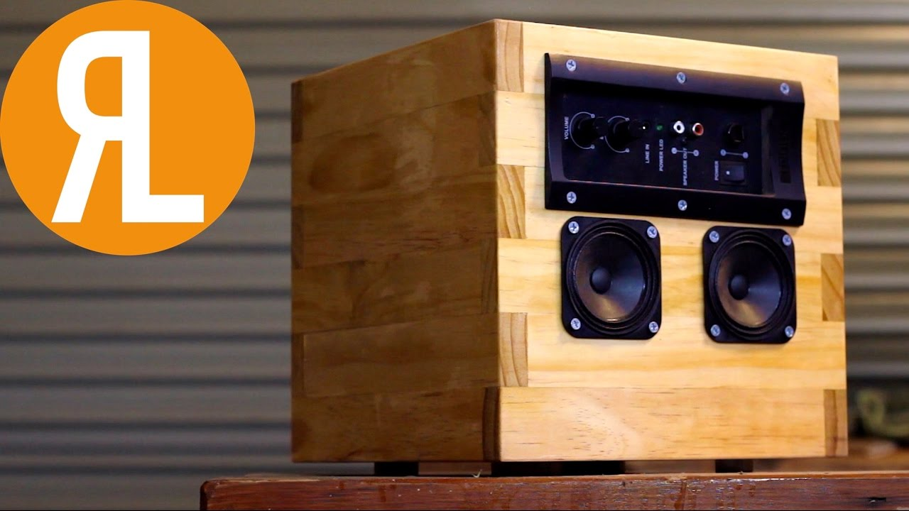 DIY Speaker From Reclaimed Components | Woodworking - YouTube