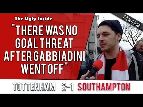 """There was no goal threat after Gabbiadini went off"" Tottenham 2-1 Southampton 