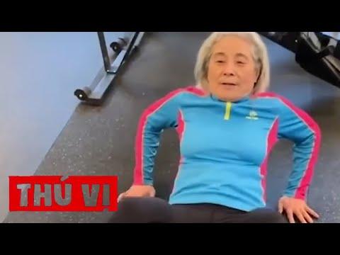 Cụ bà 70 tuổi trở thành hiện tượng mạng nhờ chăm tập thể dục