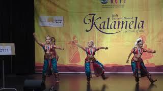 Felin,Dona,Bianca Rodrigues performing at Keli International kalamela 2019,Barathnatyam_group_dance